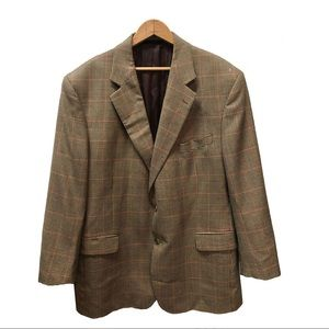 Brooks Brothers Plaid Brookwood 100% Wool Blazer